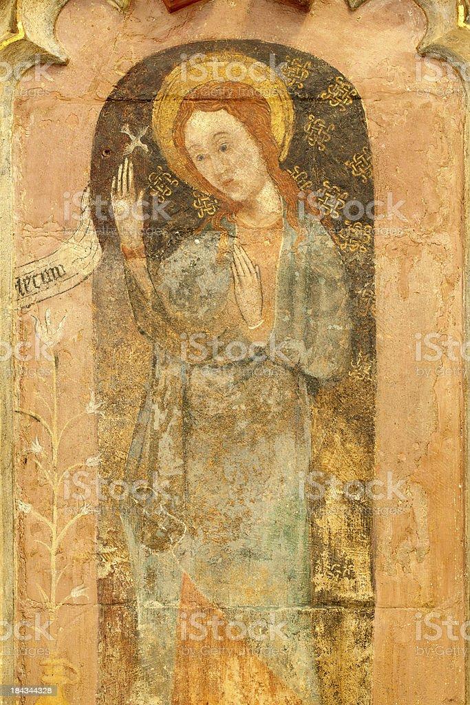 Medieval Fresco stock photo
