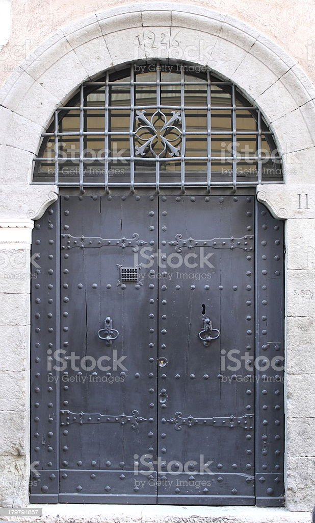 Medieval front door royalty-free stock photo