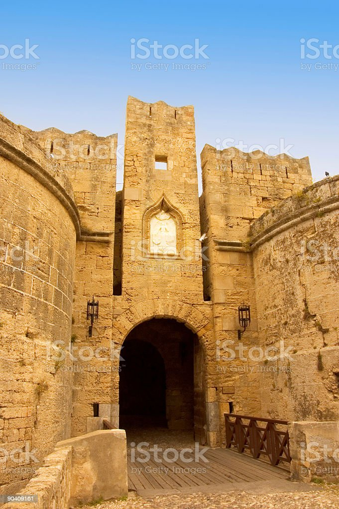 medieval gate stock photo