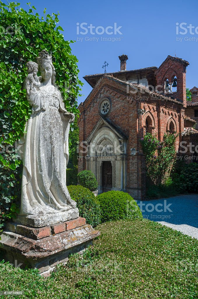 Medieval gothic church stock photo