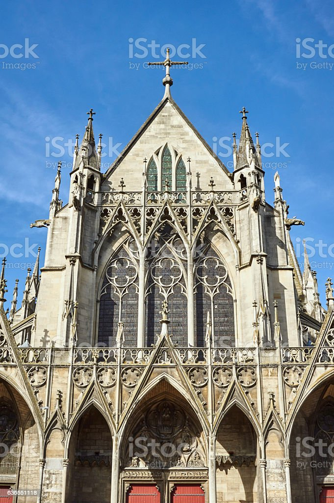 Medieval Gothic church stock photo
