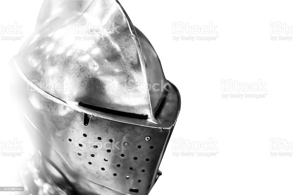 medieval helmet stock photo
