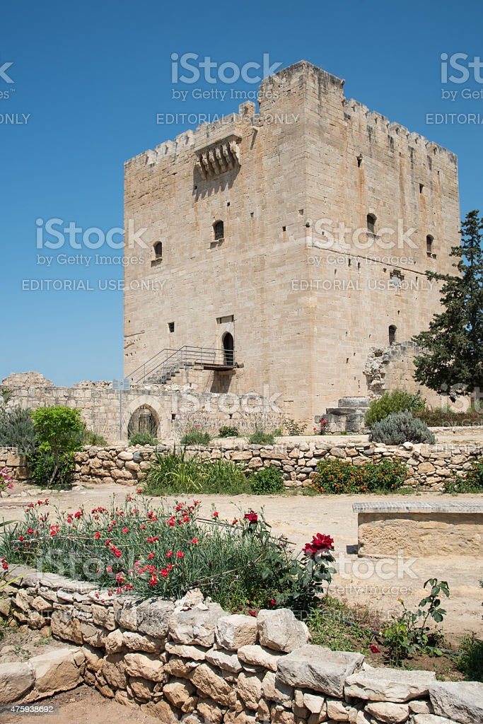 Medieval historic Castle of Kolossi, Limassol, Cyprus stock photo