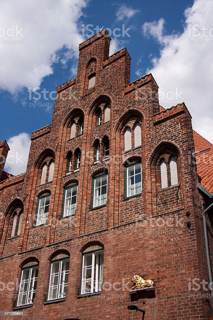 medieval house in Lübeck royalty-free stock photo