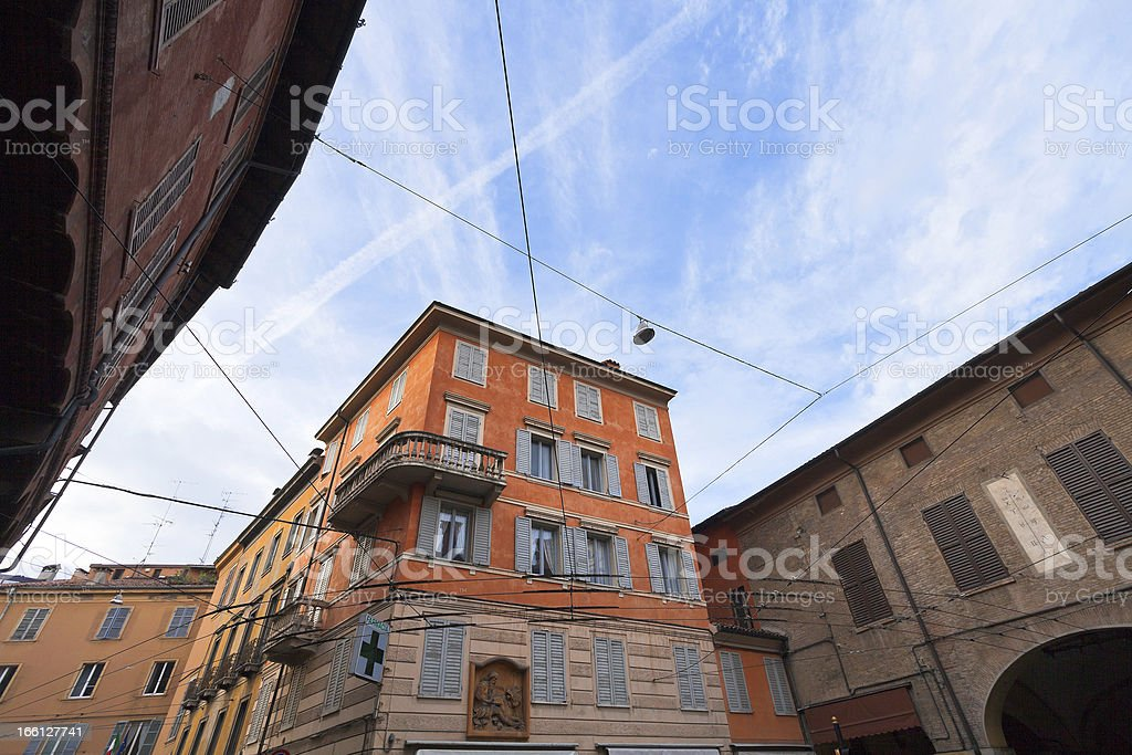 medieval houses in Modena, Italy royalty-free stock photo