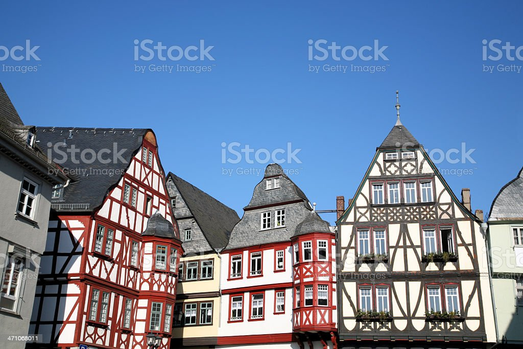 Medieval houses stock photo