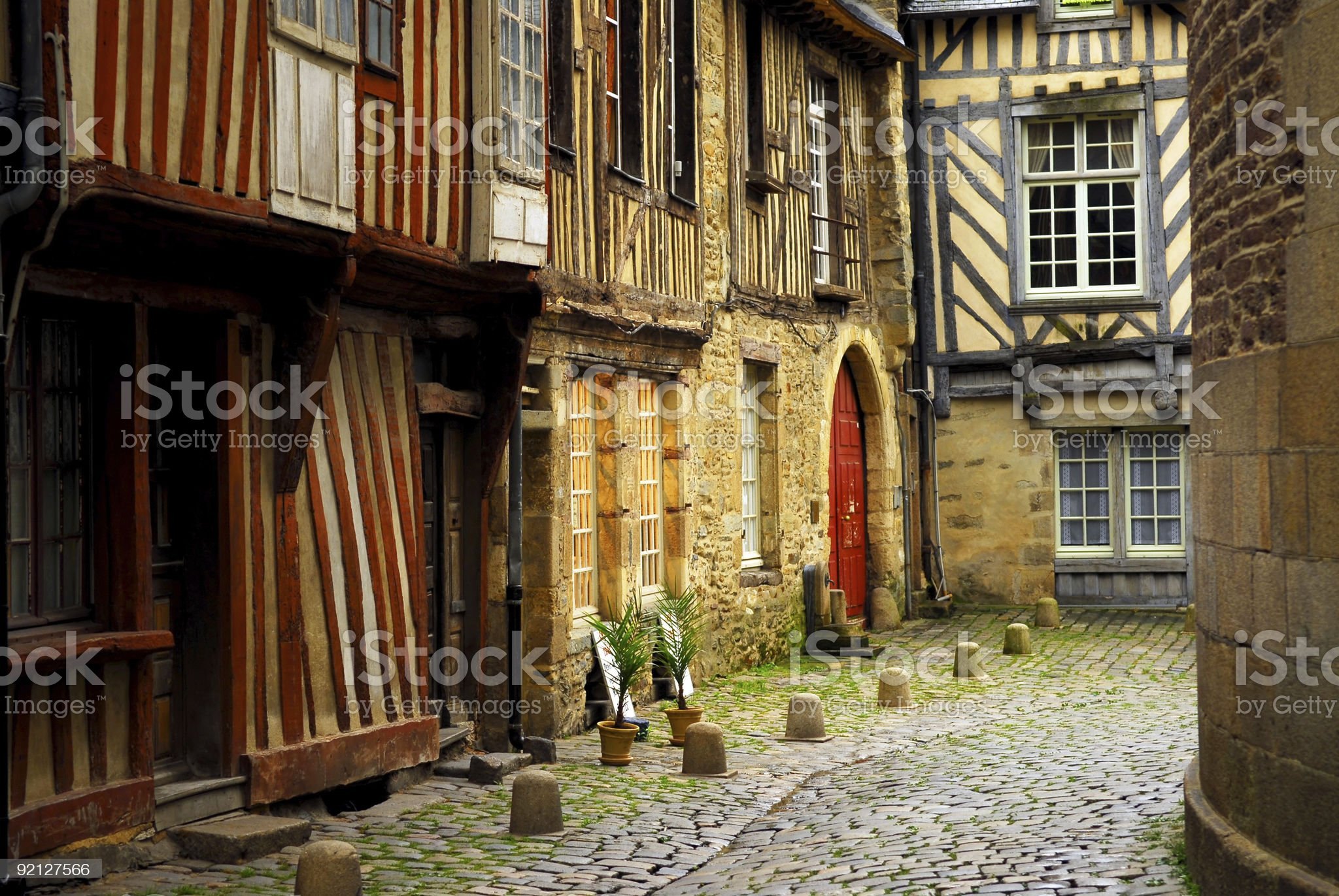 Medieval houses royalty-free stock photo