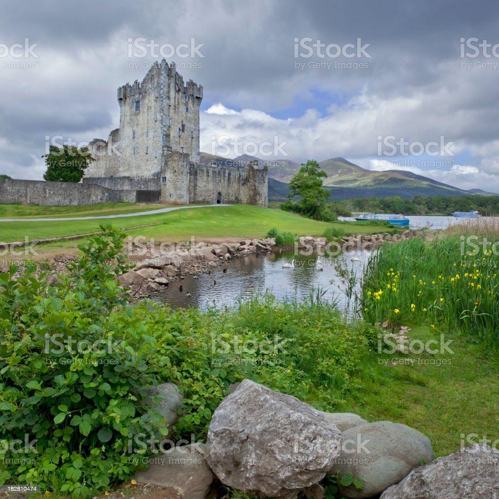 Medieval Irish Castle stock photo