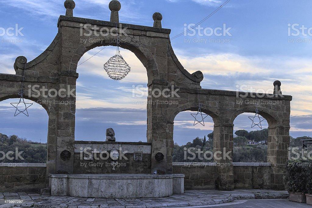 medieval italian town stock photo