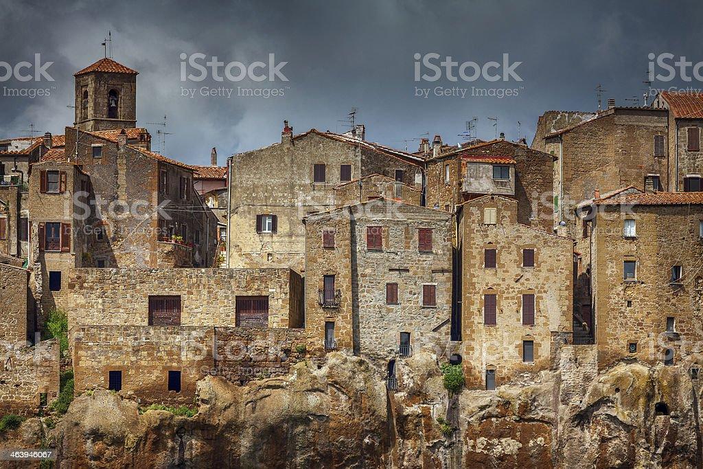 medieval italian town: Pitigliano stock photo