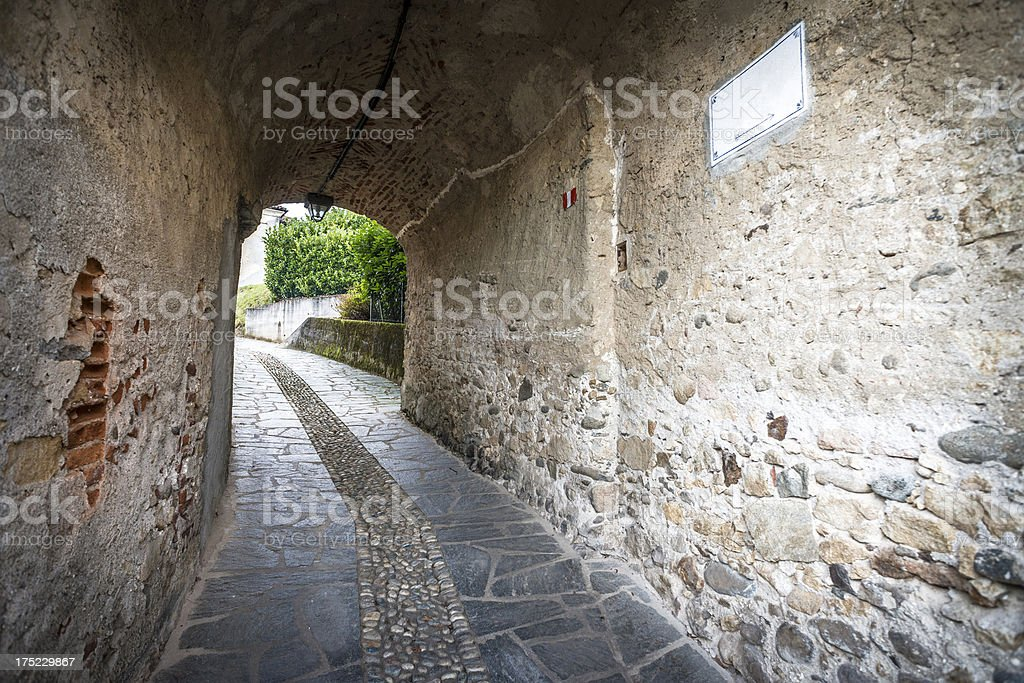 Medieval Italian village architecture royalty-free stock photo