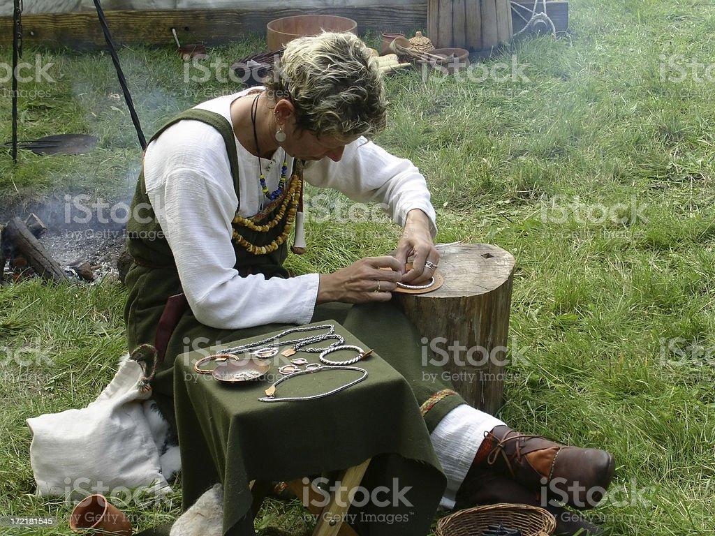 Medieval Jeweller stock photo