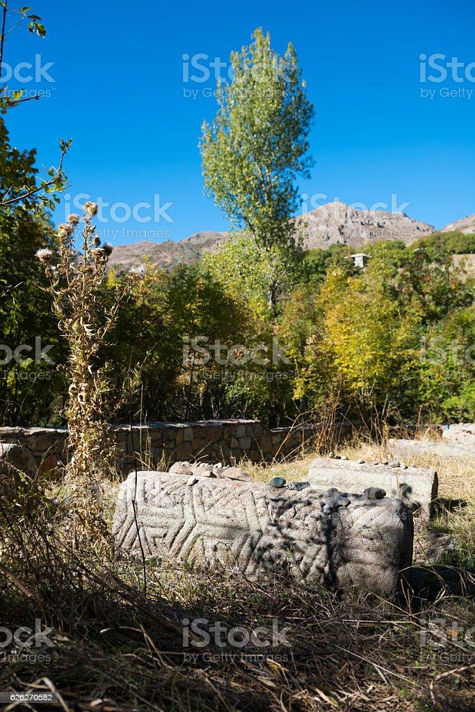 Medieval Jewish cemetery in Yeghegis, Armenia stock photo