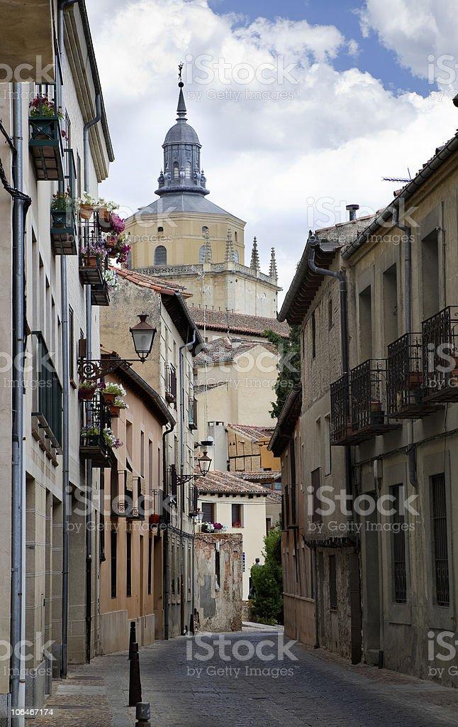 Medieval Jewish quarter in Segovia (Spain) stock photo