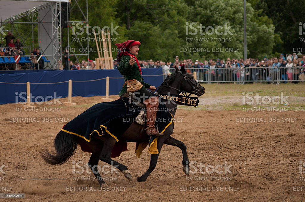 medieval joust royalty-free stock photo