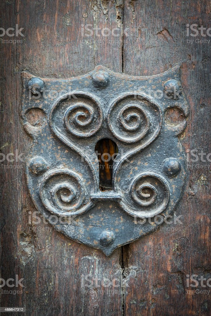Medieval Keyhole stock photo