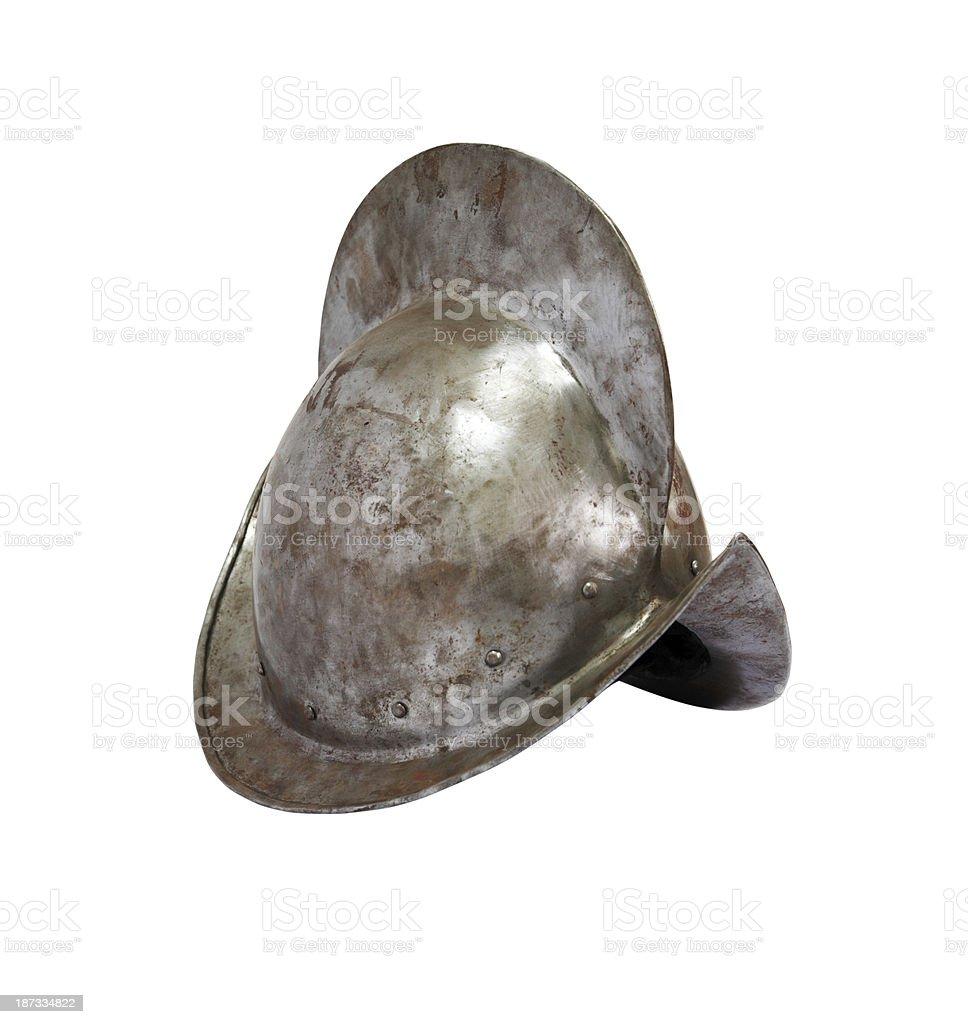 Medieval Knight Helmet stock photo