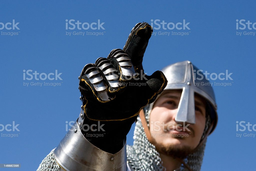 medieval knight royalty-free stock photo
