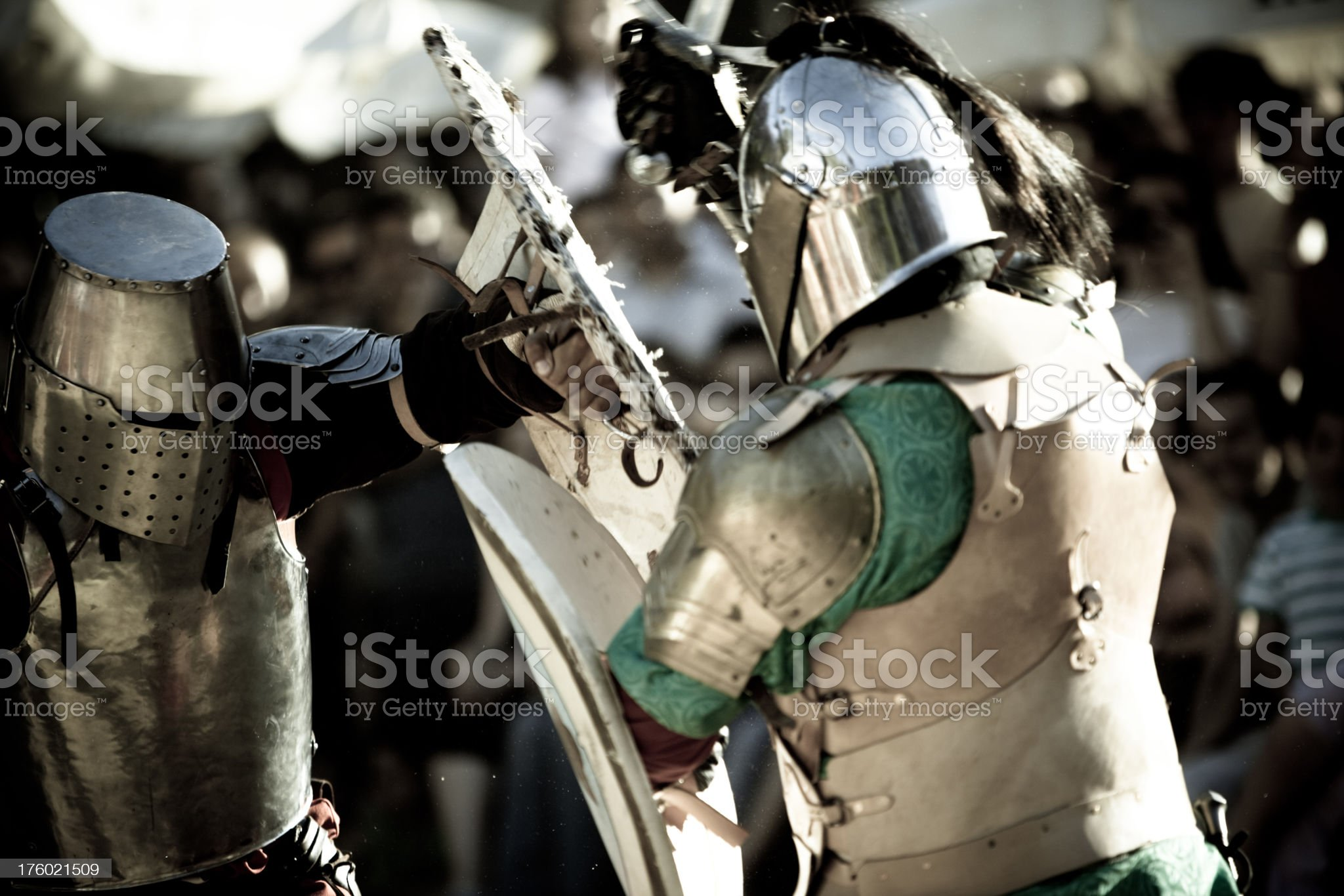 Medieval Knights royalty-free stock photo