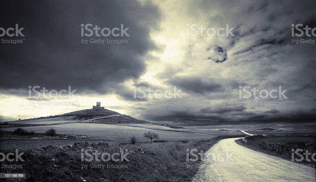 Medieval landscape stock photo