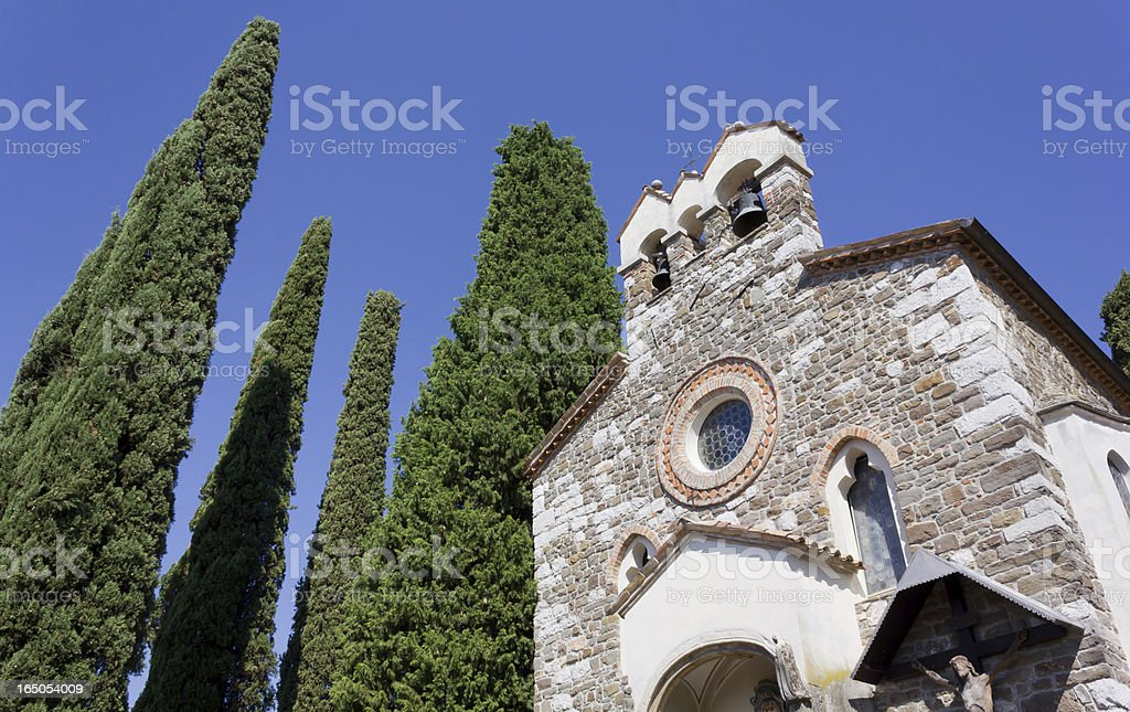 Medieval Little Church stock photo