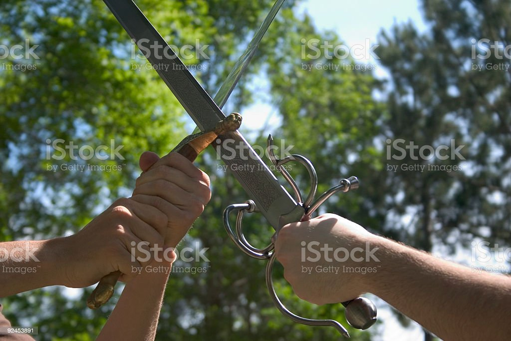 Medieval, Love and Honor stock photo