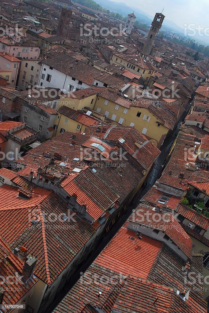 Medieval Lucca royalty-free stock photo