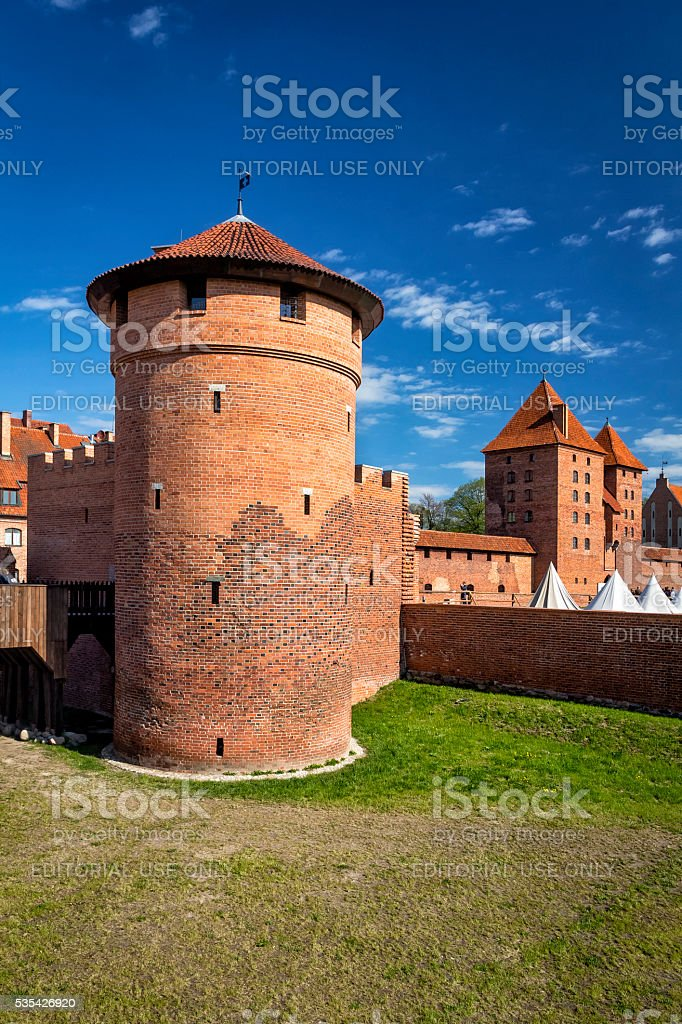 Medieval Malbork castle, Poland stock photo