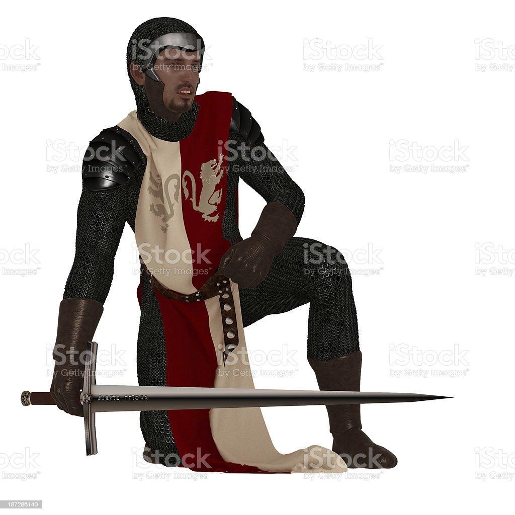 Medieval man at arms royalty-free stock photo