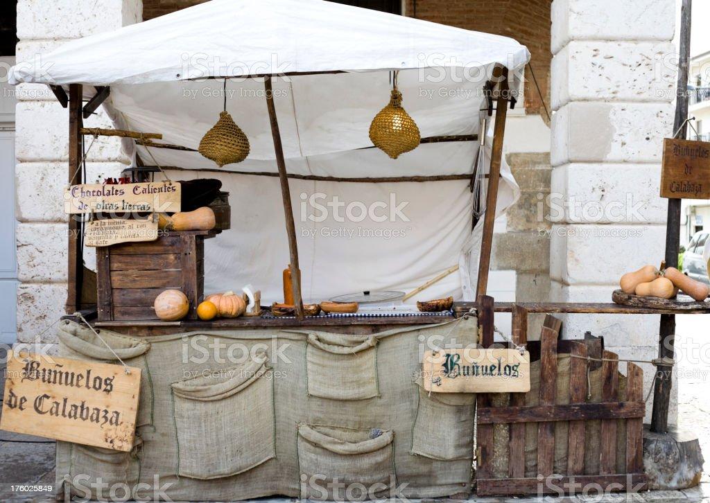 Medieval market royalty-free stock photo