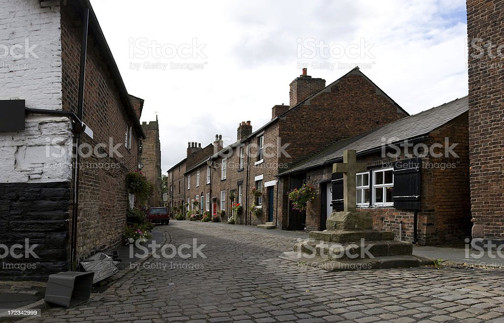 Medieval Market Town royalty-free stock photo