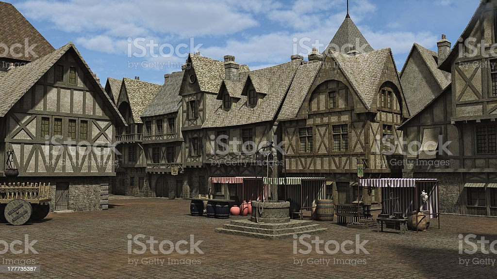 Medieval Marketplace royalty-free stock photo