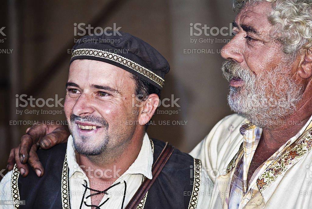 Medieval men royalty-free stock photo
