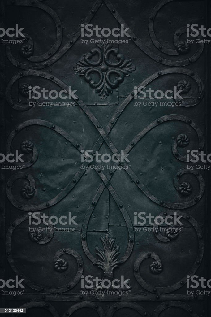 Medieval metal background stock photo