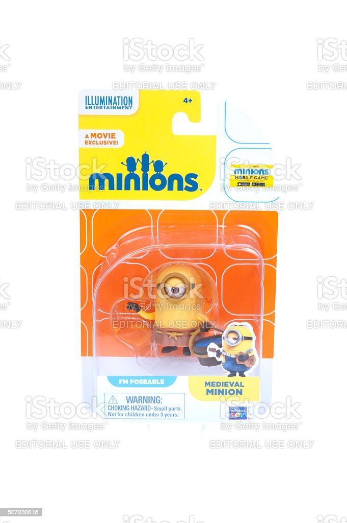 Medieval Minion Action Figure stock photo