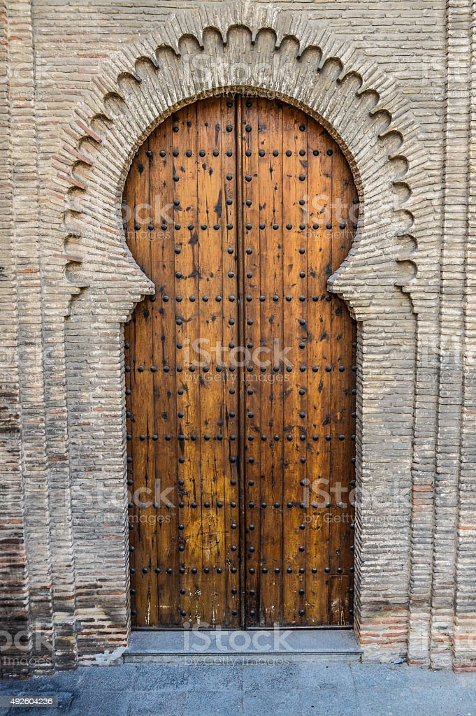 Medieval Moorish Door stock photo