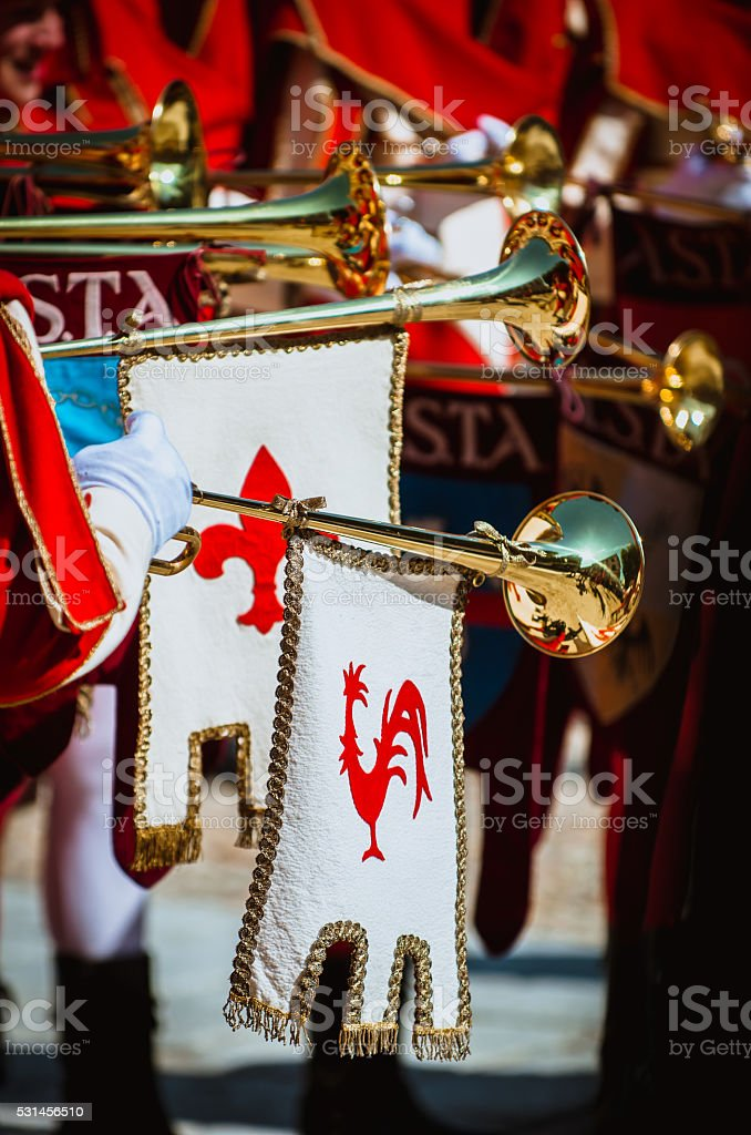 medieval musicians stock photo