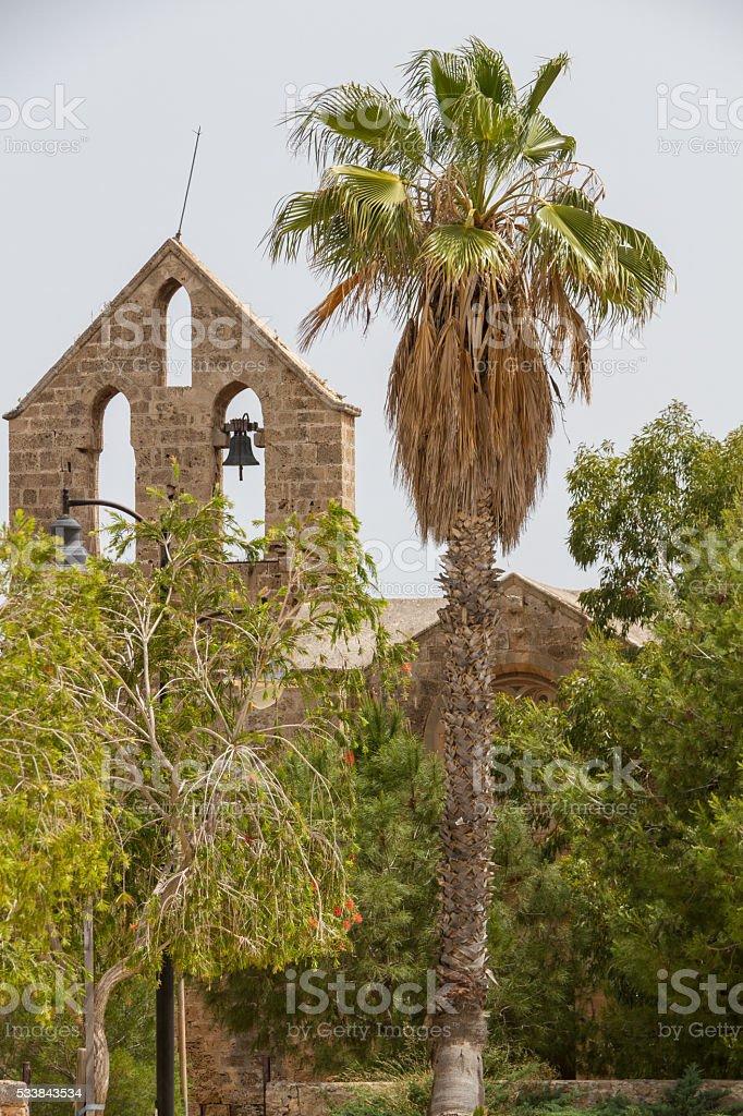 Medieval Nestorian Church St George the Exiler- Exorinos Famagusta Cyprus stock photo