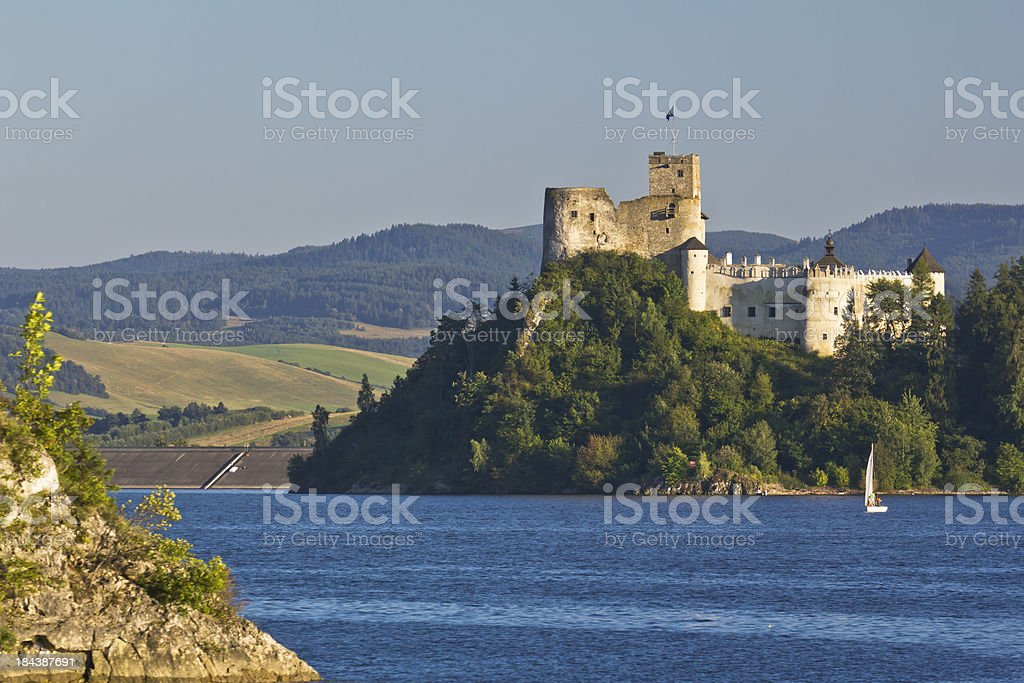 Medieval  Niedzica Castle stock photo