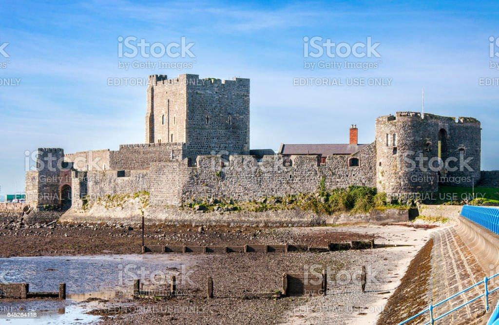 Medieval Norman Castle in Carrickfergus near Belfast stock photo
