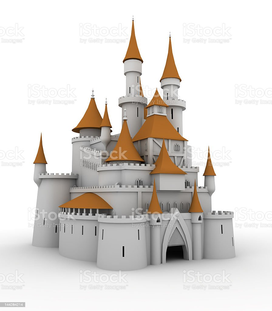 Medieval palace stock photo