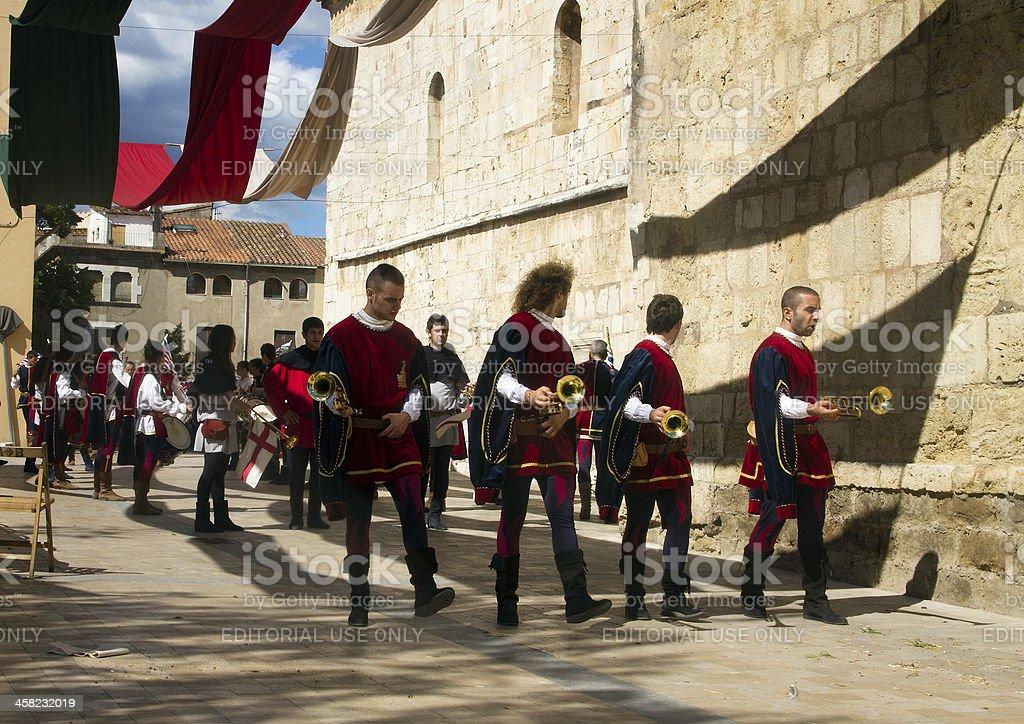 Medieval parade royalty-free stock photo