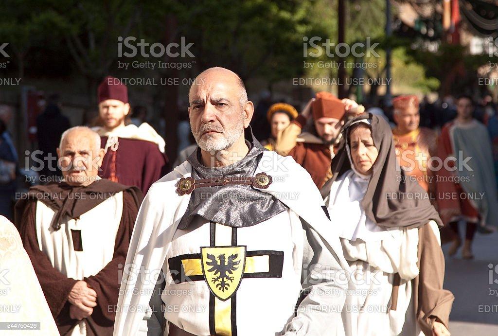 Medieval Parade stock photo