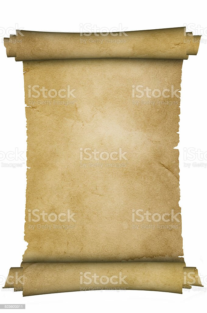 Medieval parchment. stock photo