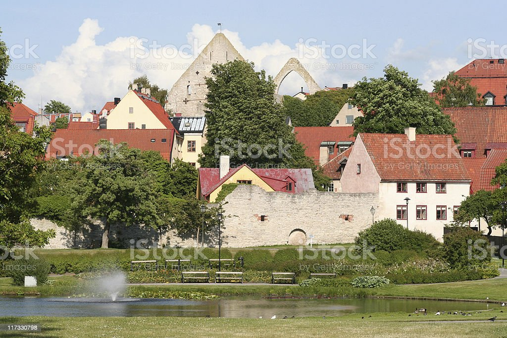 Medieval Park stock photo