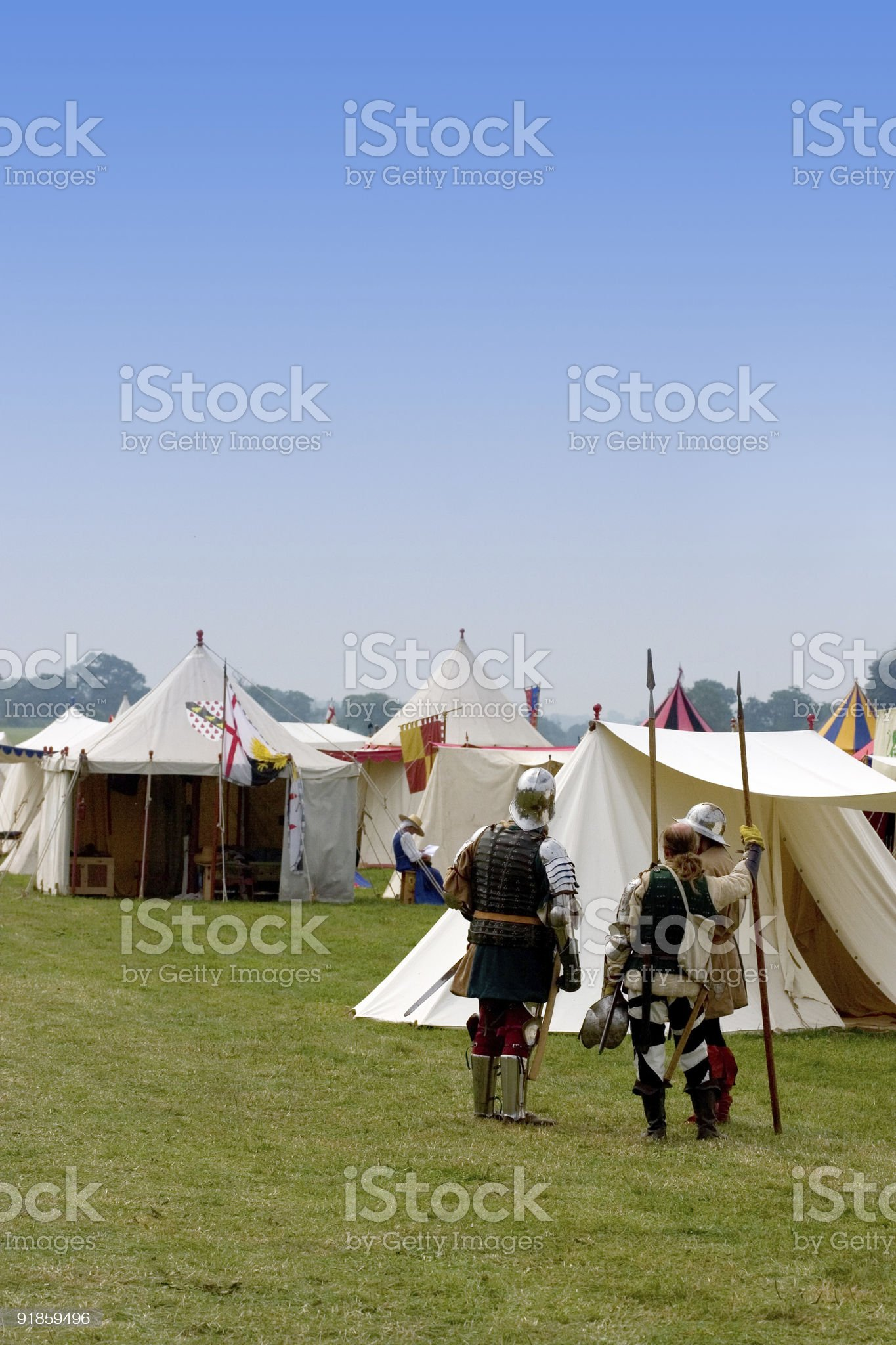Medieval Pavilions royalty-free stock photo
