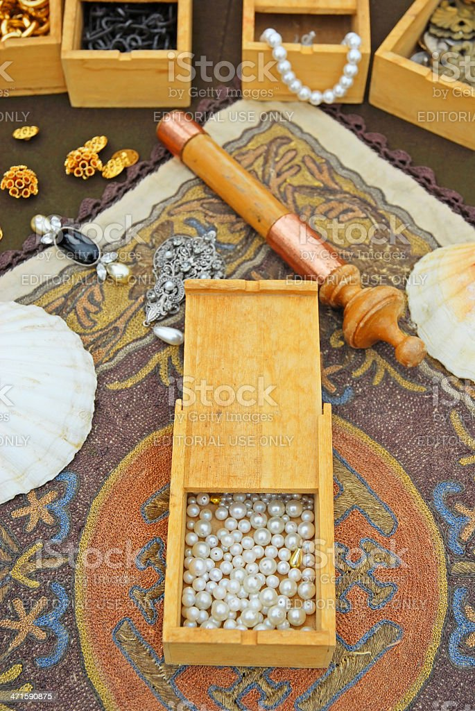 Medieval pearls royalty-free stock photo