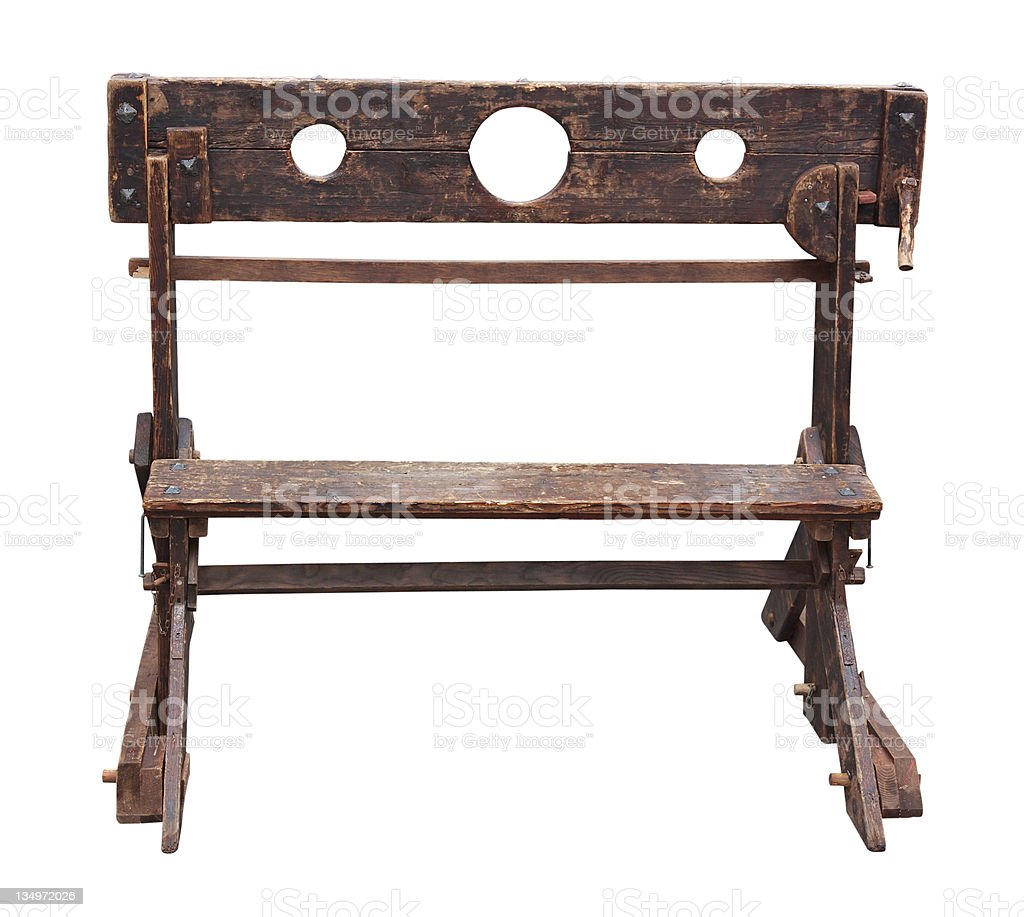 medieval pillory royalty-free stock photo
