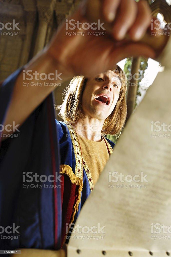 medieval poet stock photo
