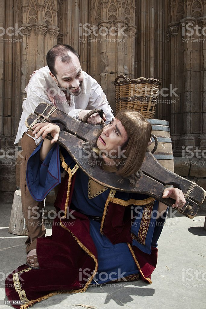 Medieval riot royalty-free stock photo
